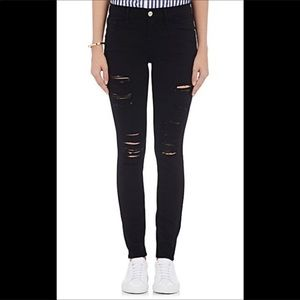 Frame ripped jeans black size 24
